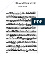 Euphonium Audition Music