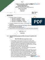 Cbse Class 11 English Sample Paper 2014 1