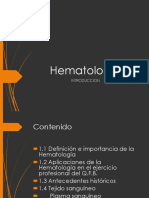 Introduccion a la hematologia
