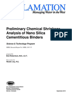 Preliminary Chemical Shrinkage Analysis of Nano Silica Cementitious Binders