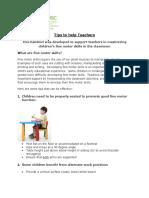 Tips to Help Teachers