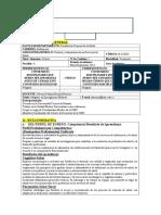 Sillabus de Adminsitración y Gerencia en Los Servicios de Salud
