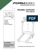 535x Treadmill