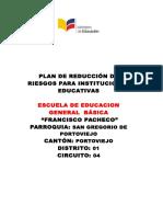 Plan Institucional Reduccion Riesgos