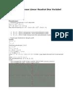 Sistem Persamaan Linear Kuadrat Dua Variabel (SPLKDV)