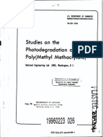Photoegradation of Pmma