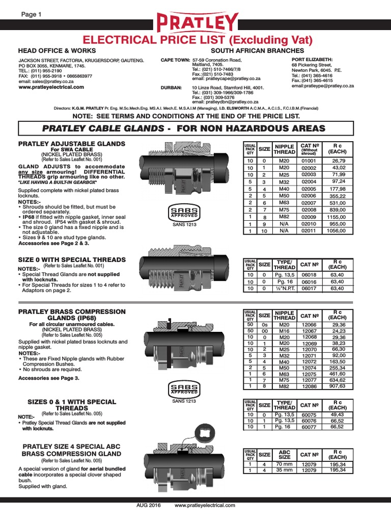 Electrical+Price+List+2016   Electrical Connector   Building Engineering