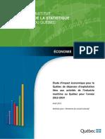 Étude d'Impact Économique Industrie Maritime Au Québec
