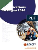 WEB 2016 EI Publications Catalogue