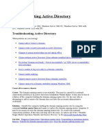 Troubleshooting Active Directory