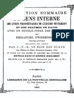 Exposition Sommaire Du Sens Interne
