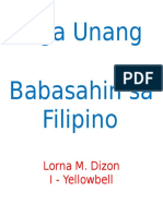 Reading Material in Filipino I
