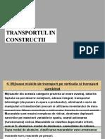 Transport in Constructii