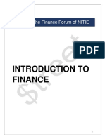 Introduction to FinIntroduction to financeance