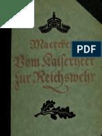 (1921) Vom Kaiserheer Zur Reichswehr