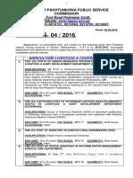 Advt No.4 2016