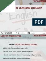 Do You Like Learning English