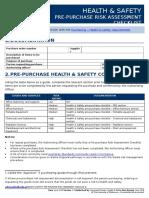 Health and Safety Prepurchase Risk Assessment Checklist