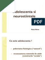 151026 Adolescenta Si Neurostiinte