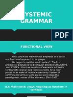 Systemic Grammar (Eng115) Powerpoint Presentation