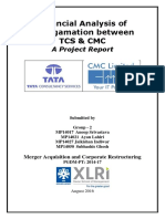 Financial Analysis of Amalgamation between TCS & CMC A Project Report