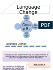 SocioLing, Language Change