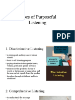Types of Purposeful Listening