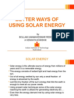 Better Use of Solar Energy