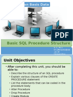 02.Basic SQL Procedure Structure
