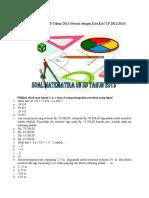 Soal UN Matematika SD Tahun 2013.docx