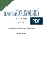 0 Planificare Calendaristica Clasa a Iva Iosif Gabriela