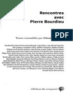 Mauger. Reecuentos Con Pierre Bourdieu. Texto de Compilación