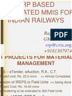 ERP Based Integrated MMIS by Indian Railways [Compatibility Mode]