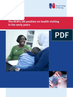 The Royal College of Nursing Position on Health Visiting