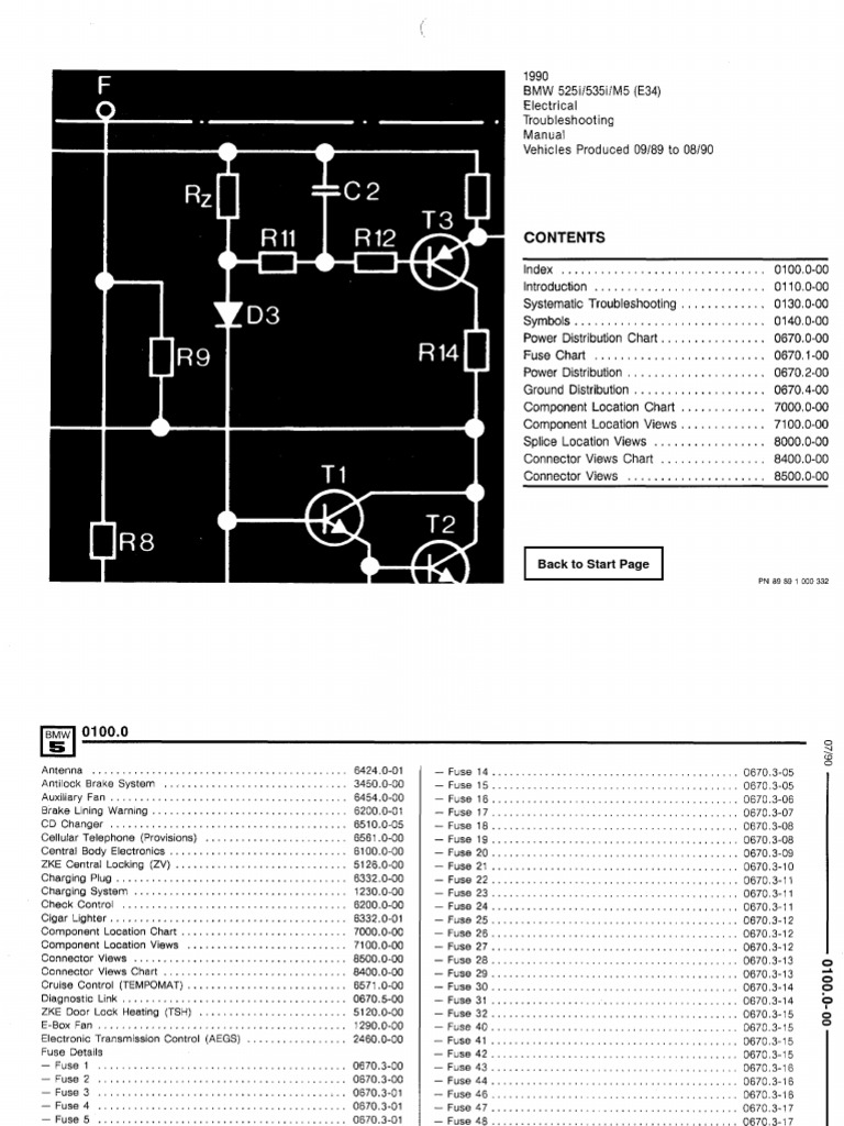 E34 530i Fuse Box Electrical Wiring Diagrams 1994 Bmw 525i Diagram E60 Schematics Manual Location