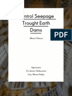 "Control Seepage Thought Earth dam "" التحكم في التسرب خلال السدود الترابيه """