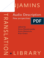 Anna Maszerowska, Anna Matamala, Pilar Orero-Audio Description_ New Perspectives (2014)