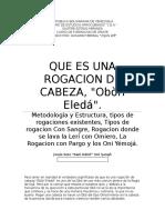 QUE ES UNA ROGACION de CABEZA(Ampliado y Corregido) (Jesus Oni Shango Soto)
