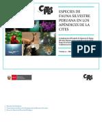 Especies de Fauna Silvestre Peruana en Los Apéndices de La CITES1