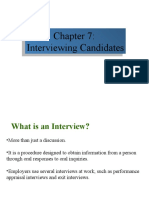Chapter 7 Interviewing Candidates