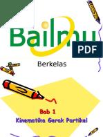 BAB 1 Kinematika Gerak Partikel
