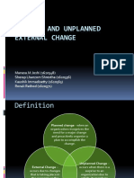 Planned and Unplanned External Change