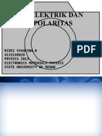 Ppt Dielektrik Dan Polarisasi