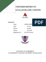 Internship Report Bank Alfalah Islamic Ltd. By AZEEM JAFFERY Completed