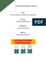 Estructuras cristalinas de los elementos y redes de Bravais