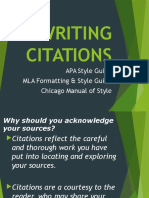 Writing Citations