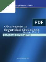 Manual Operativo Del Observatorio de Seguridad Ciudadana