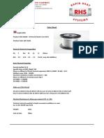 NiCr 8020 - 19 Strand Heater Core Wire 500m Datasheet