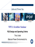 FGD Design and Operating Criteria