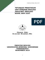 Praktikum Ekologi BIW 2107 Rev